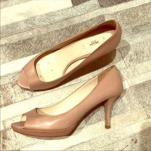 Prada Shoes - Authentic Prada nude open toe pumps
